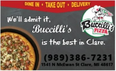 Buccilli's Pizza, Clare Michigan