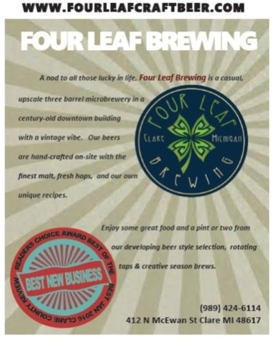 Four Leaf Brewing, Clare Michigan